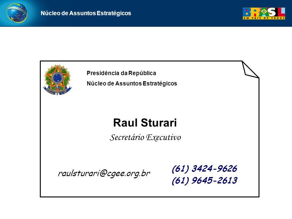 Raul Sturari Secretário Executivo (61) 3424-9626