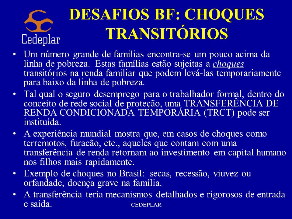DESAFIOS BF: CHOQUES TRANSITÓRIOS