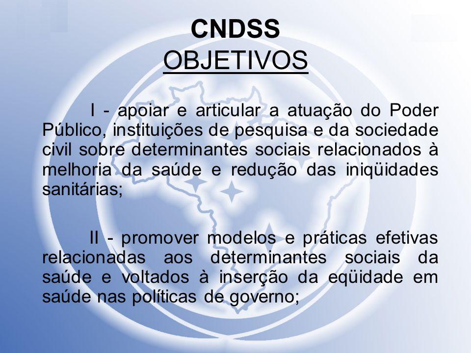CNDSS OBJETIVOS