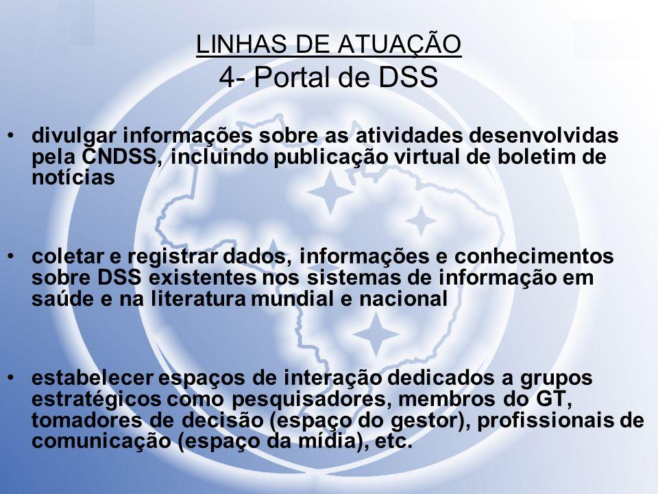 LINHAS DE ATUAÇÃO 4- Portal de DSS