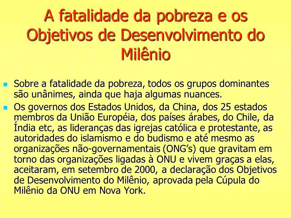 A fatalidade da pobreza e os Objetivos de Desenvolvimento do Milênio