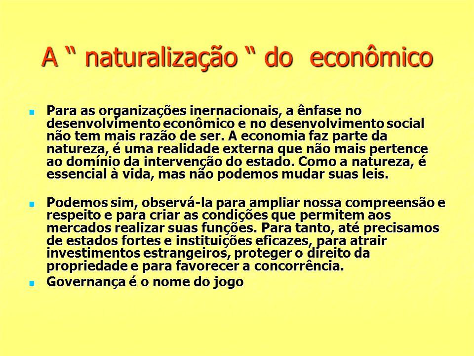 A naturalização do econômico