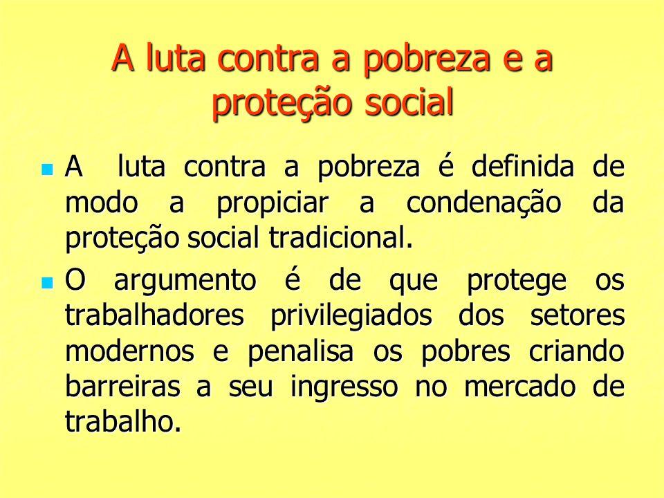 A luta contra a pobreza e a proteção social