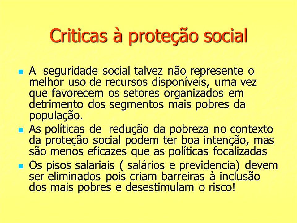 Criticas à proteção social