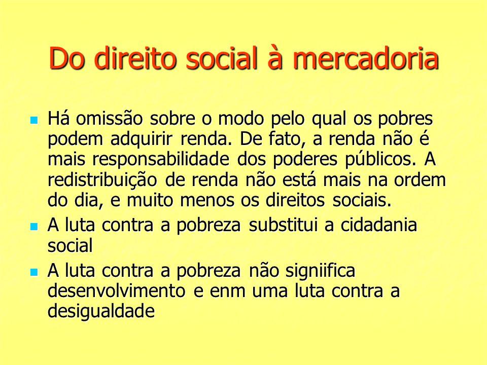 Do direito social à mercadoria