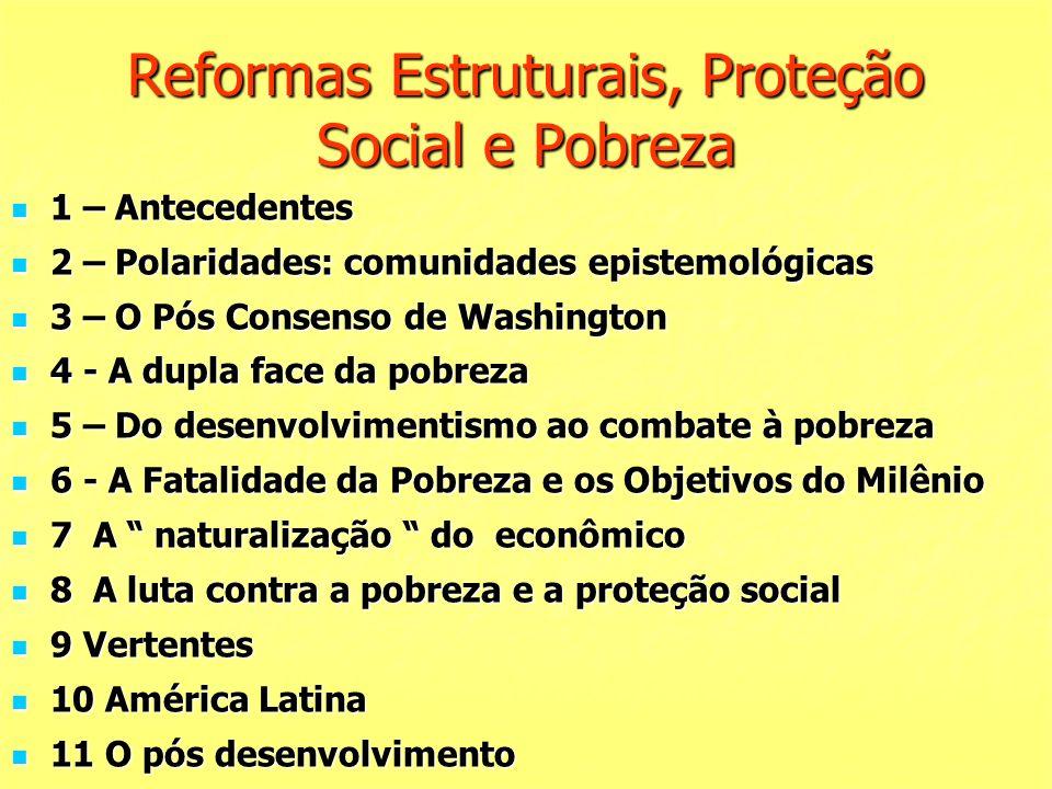Reformas Estruturais, Proteção Social e Pobreza