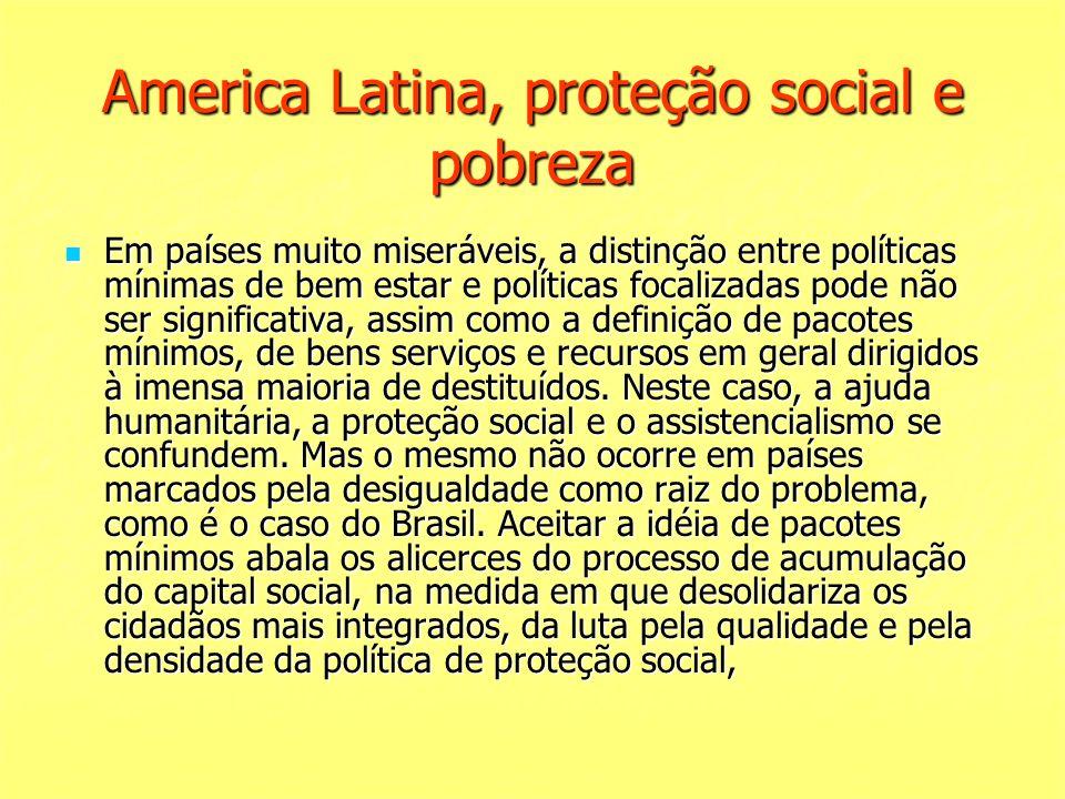 America Latina, proteção social e pobreza