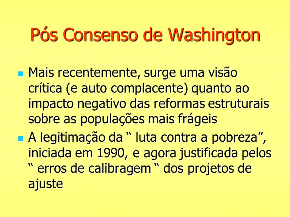 Pós Consenso de Washington