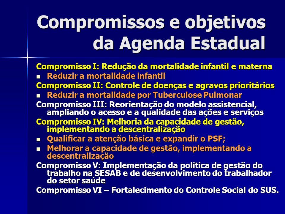 Compromissos e objetivos da Agenda Estadual