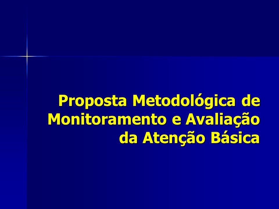 Proposta Metodológica de Monitoramento e Avaliação da Atenção Básica