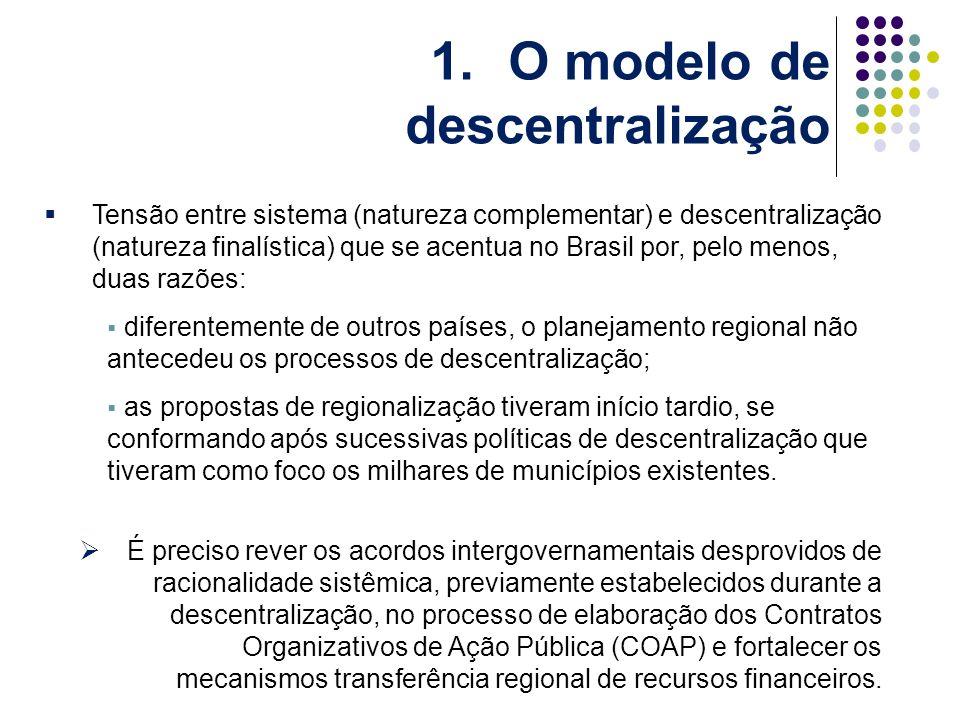 O modelo de descentralização