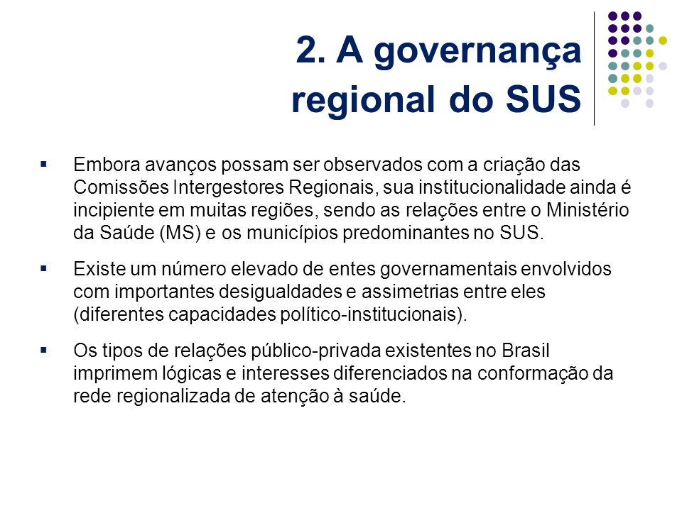 2. A governança regional do SUS