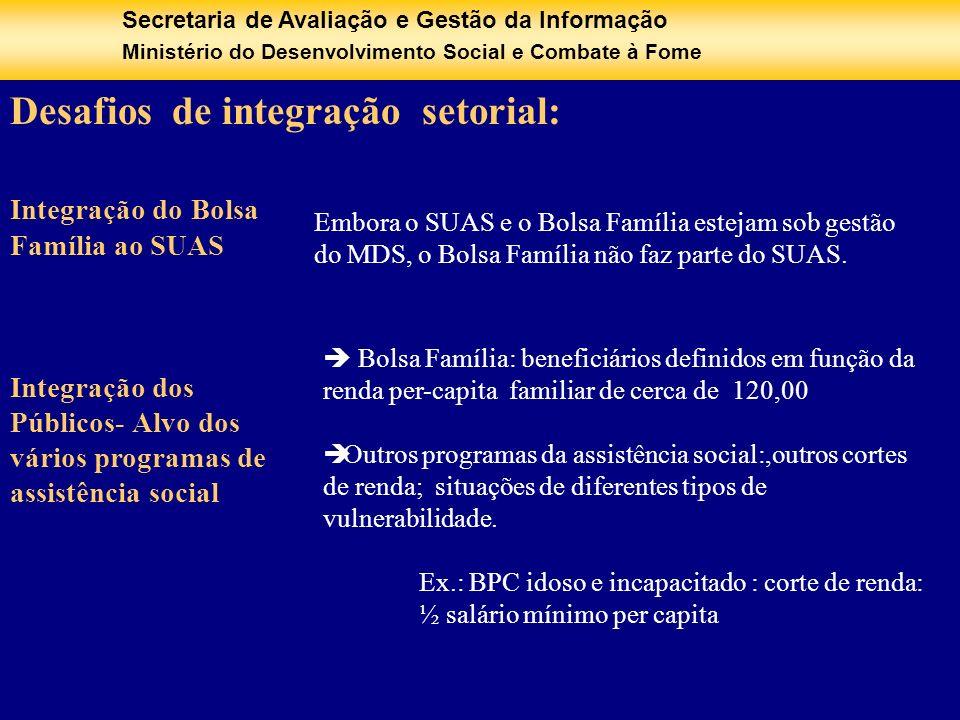 Desafios de integração setorial: