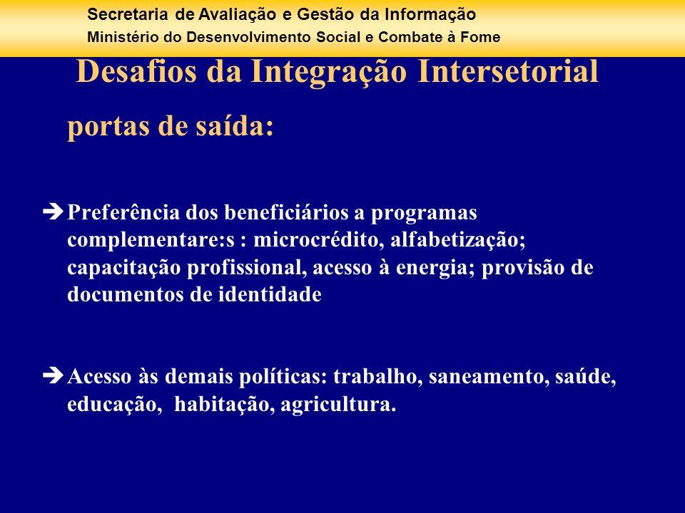 Desafios da Integração Intersetorial