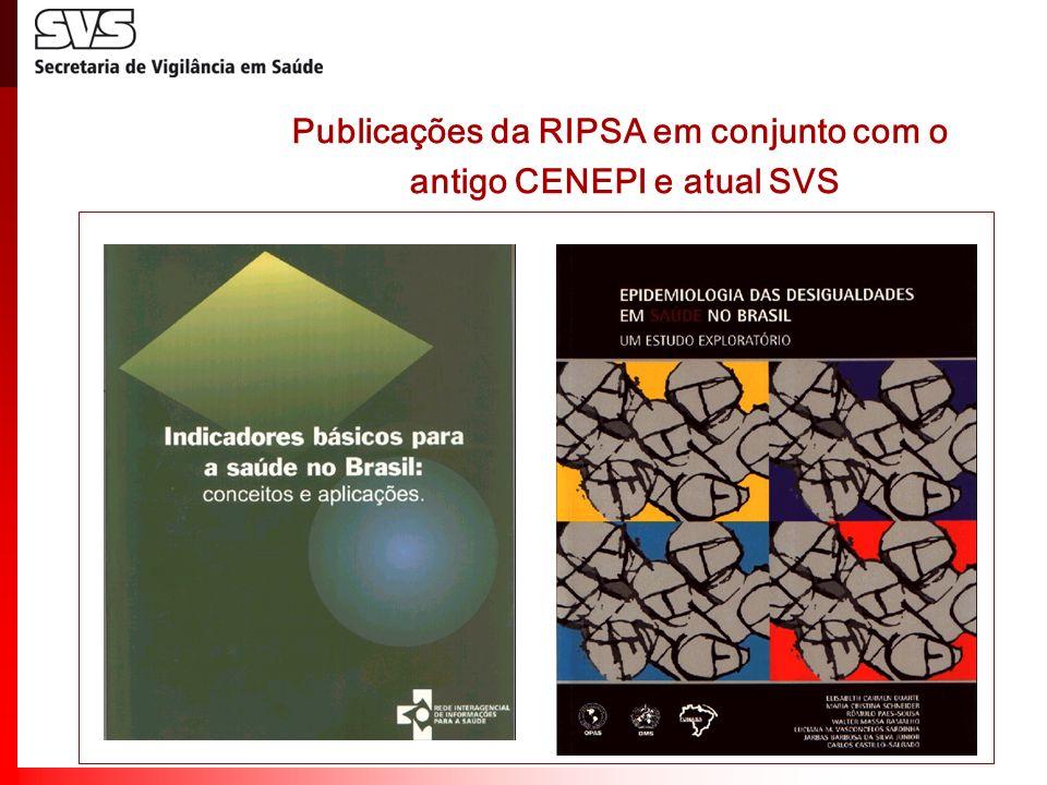 Publicações da RIPSA em conjunto com o antigo CENEPI e atual SVS