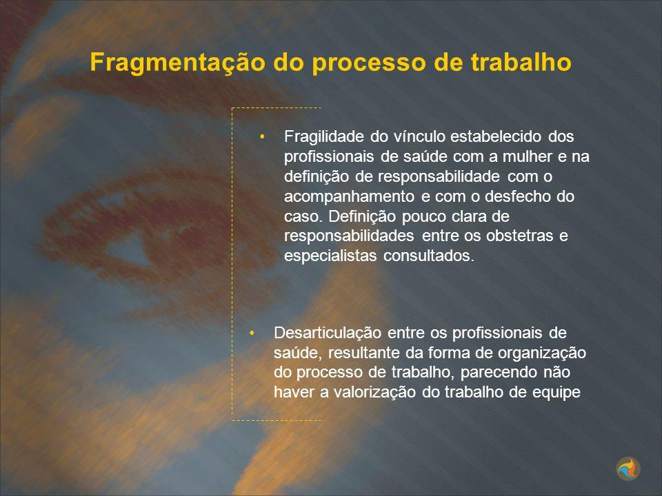 Fragmentação do processo de trabalho