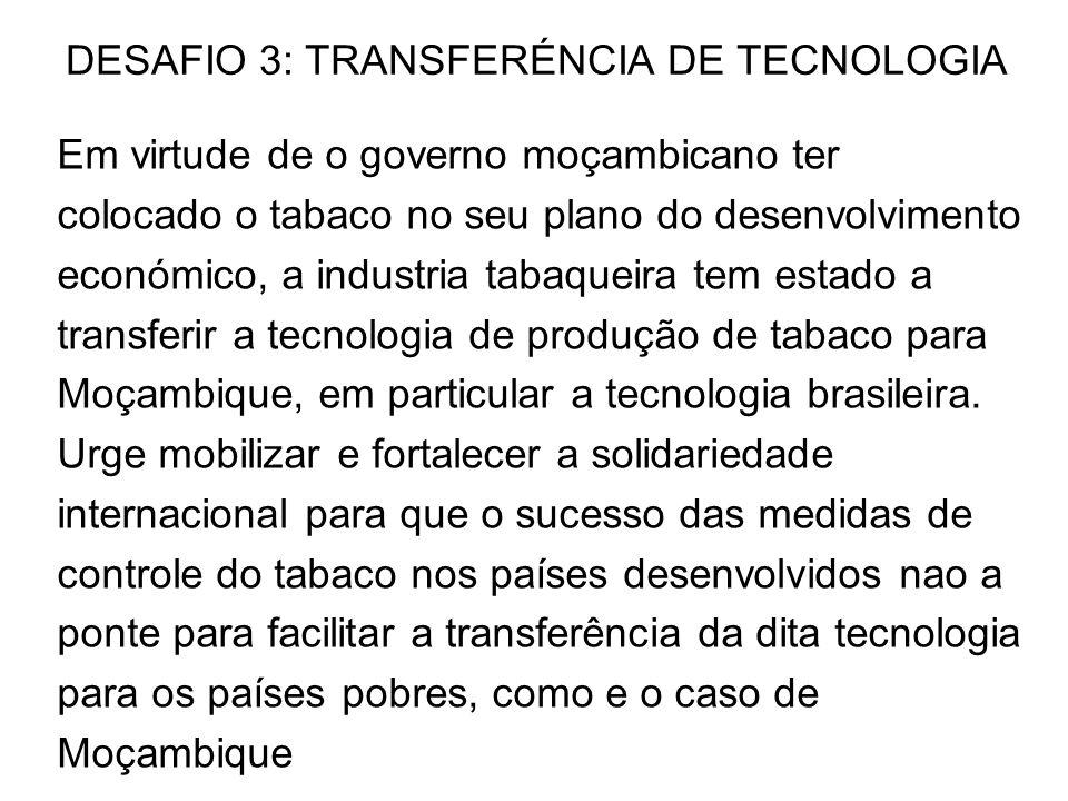 DESAFIO 3: TRANSFERÉNCIA DE TECNOLOGIA