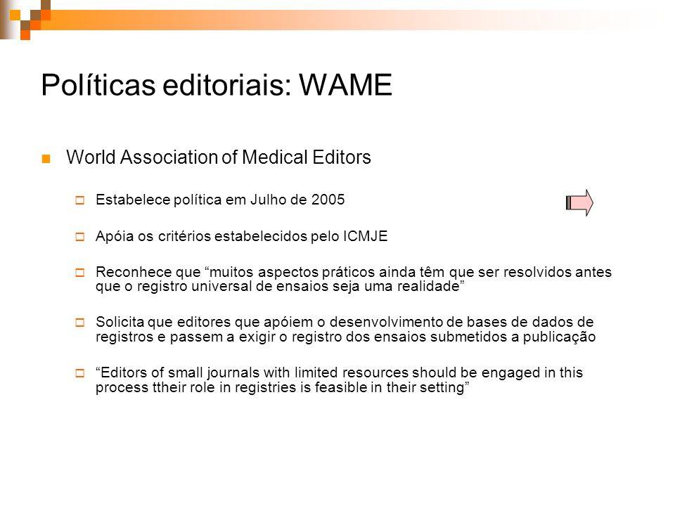 Políticas editoriais: WAME
