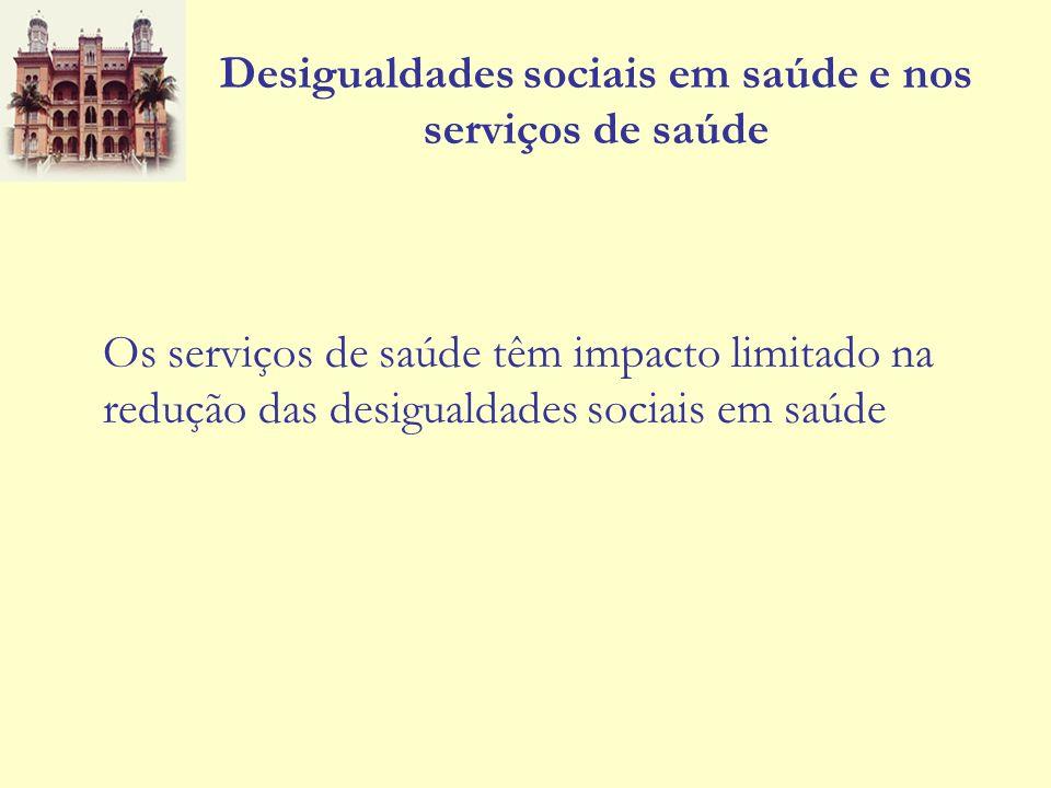 Desigualdades sociais em saúde e nos serviços de saúde