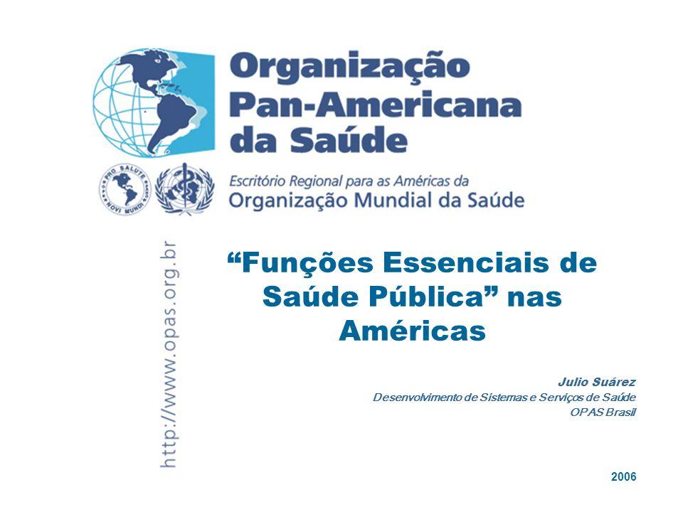 Funções Essenciais de Saúde Pública nas Américas