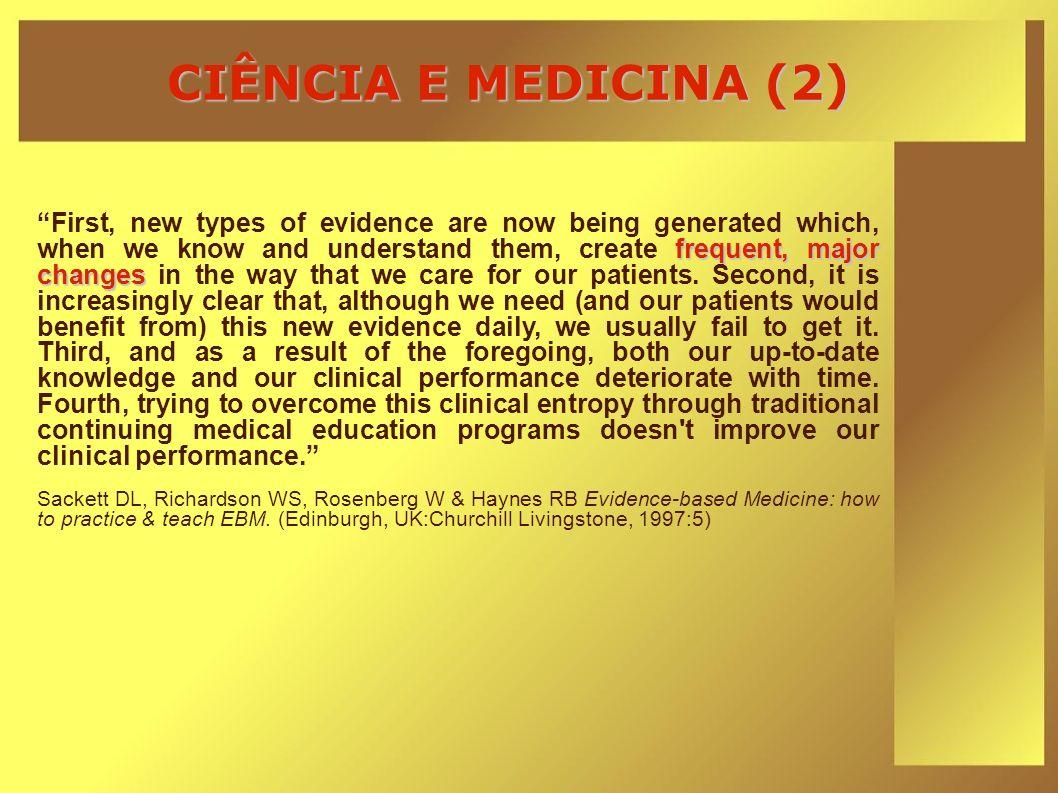 CIÊNCIA E MEDICINA (2)