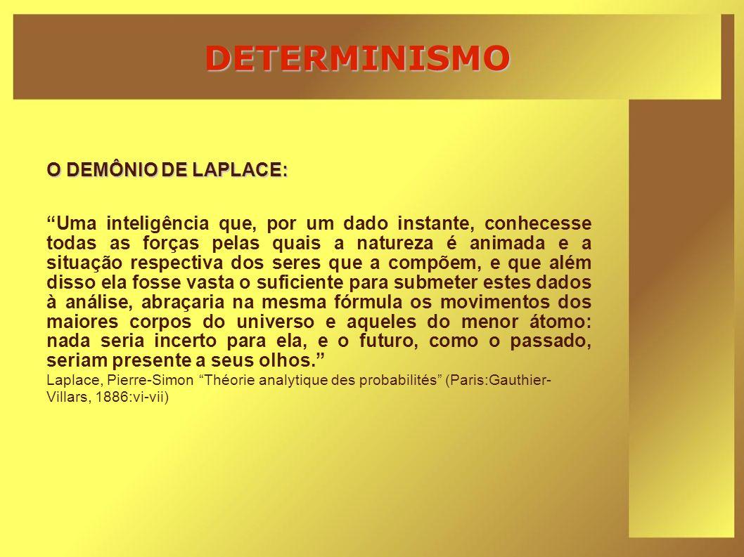 DETERMINISMO O DEMÔNIO DE LAPLACE: