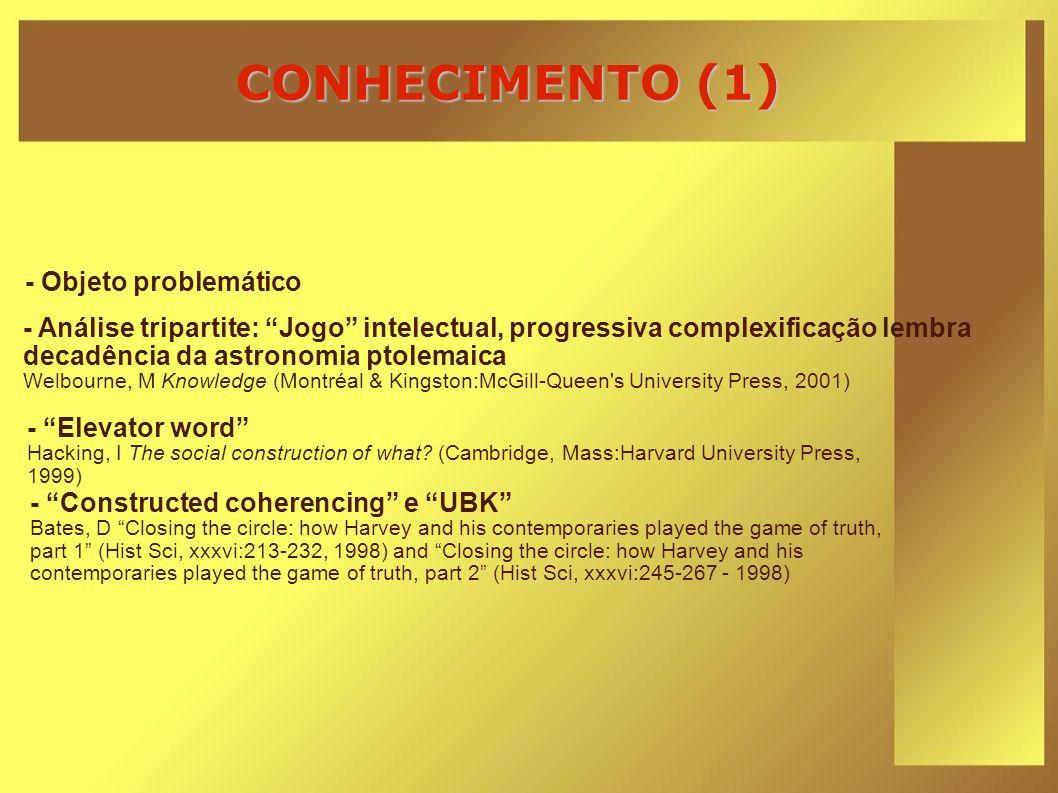 CONHECIMENTO (1) - Objeto problemático