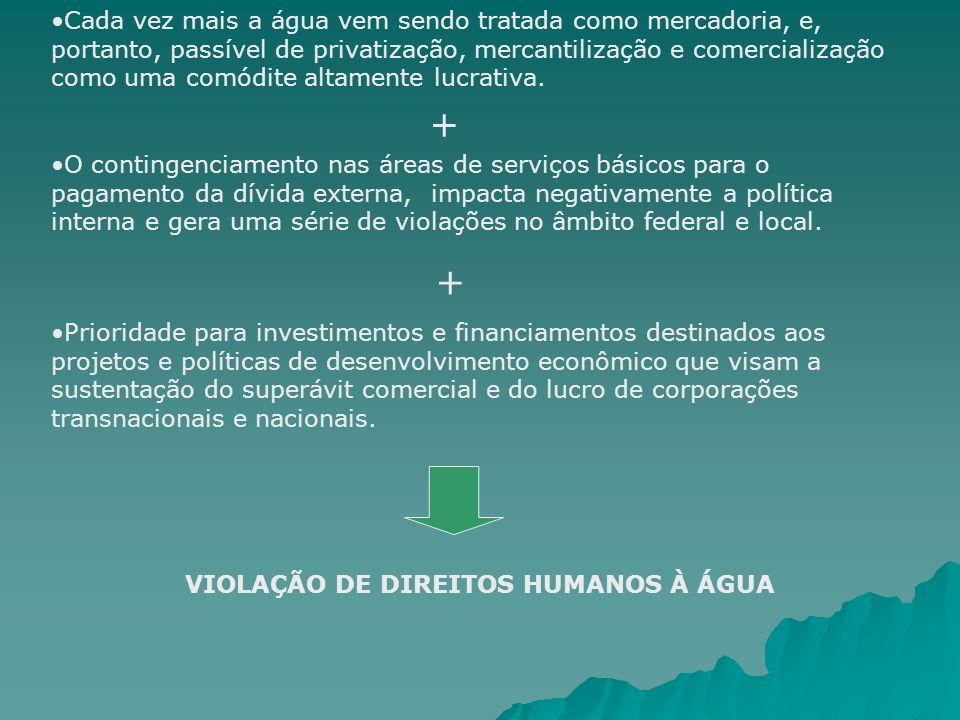 VIOLAÇÃO DE DIREITOS HUMANOS À ÁGUA