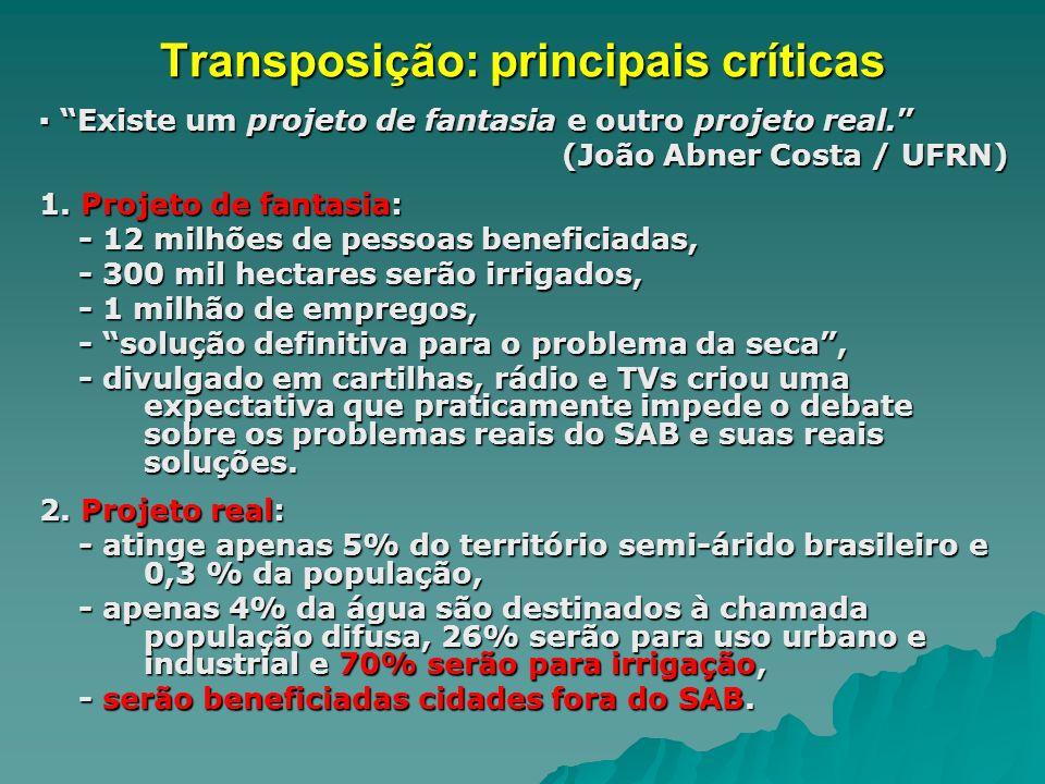 Transposição: principais críticas