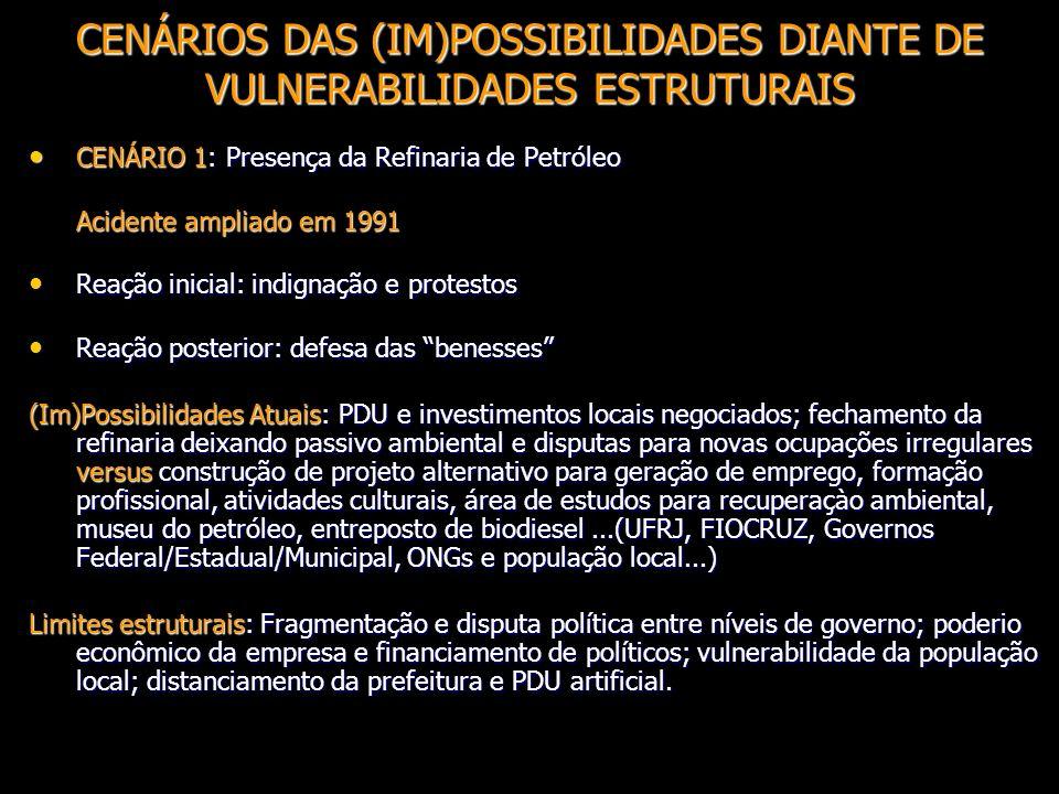 CENÁRIOS DAS (IM)POSSIBILIDADES DIANTE DE VULNERABILIDADES ESTRUTURAIS