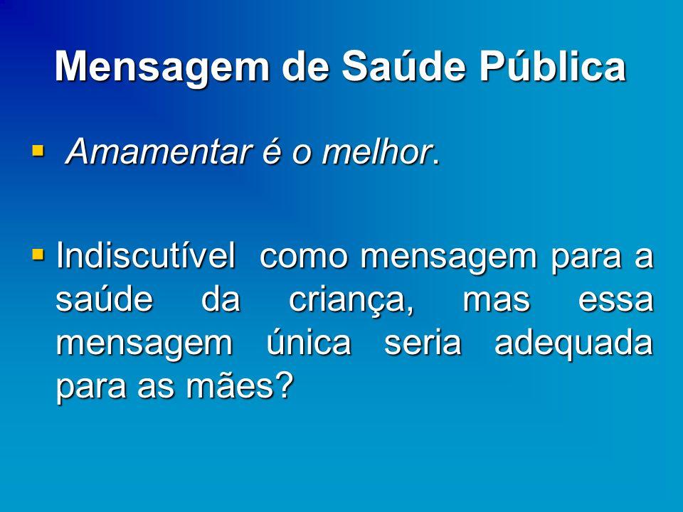 Mensagem de Saúde Pública