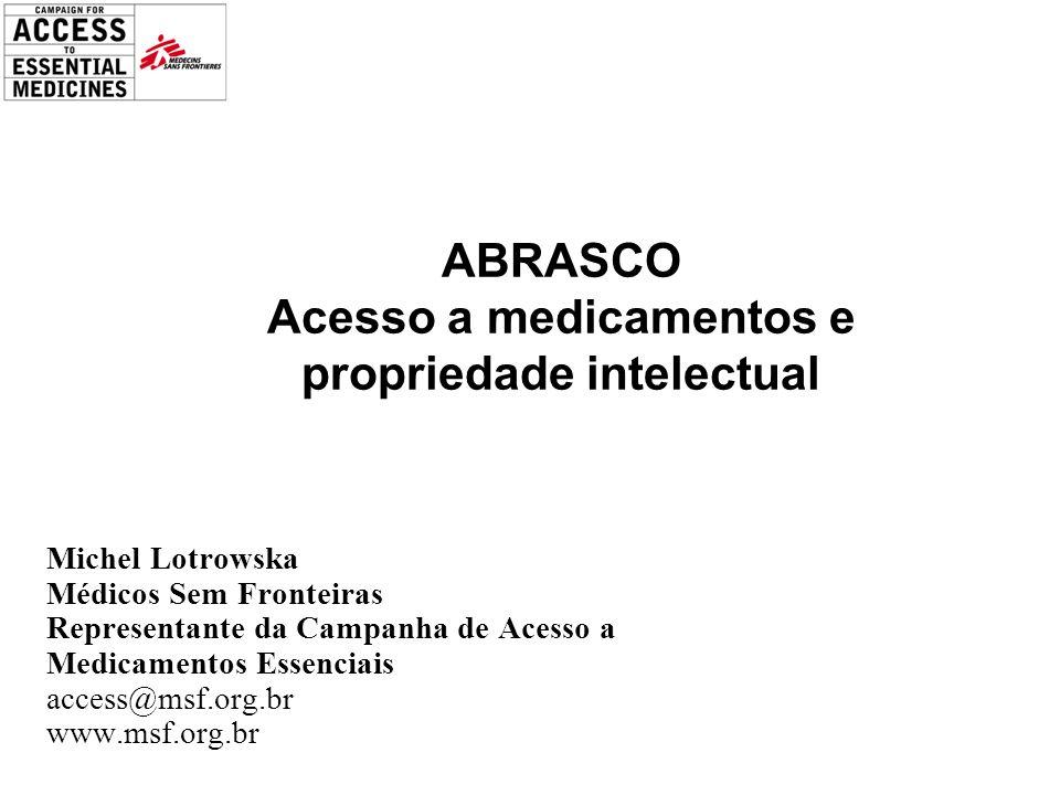 ABRASCO Acesso a medicamentos e propriedade intelectual