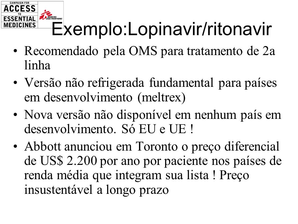 Exemplo:Lopinavir/ritonavir