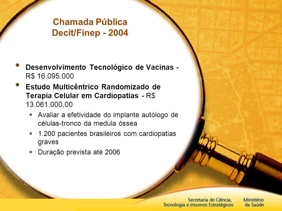 Chamada Pública Decit/Finep - 2004