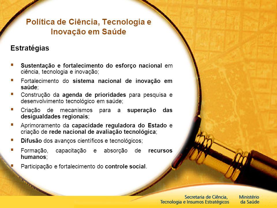 Política de Ciência, Tecnologia e Inovação em Saúde