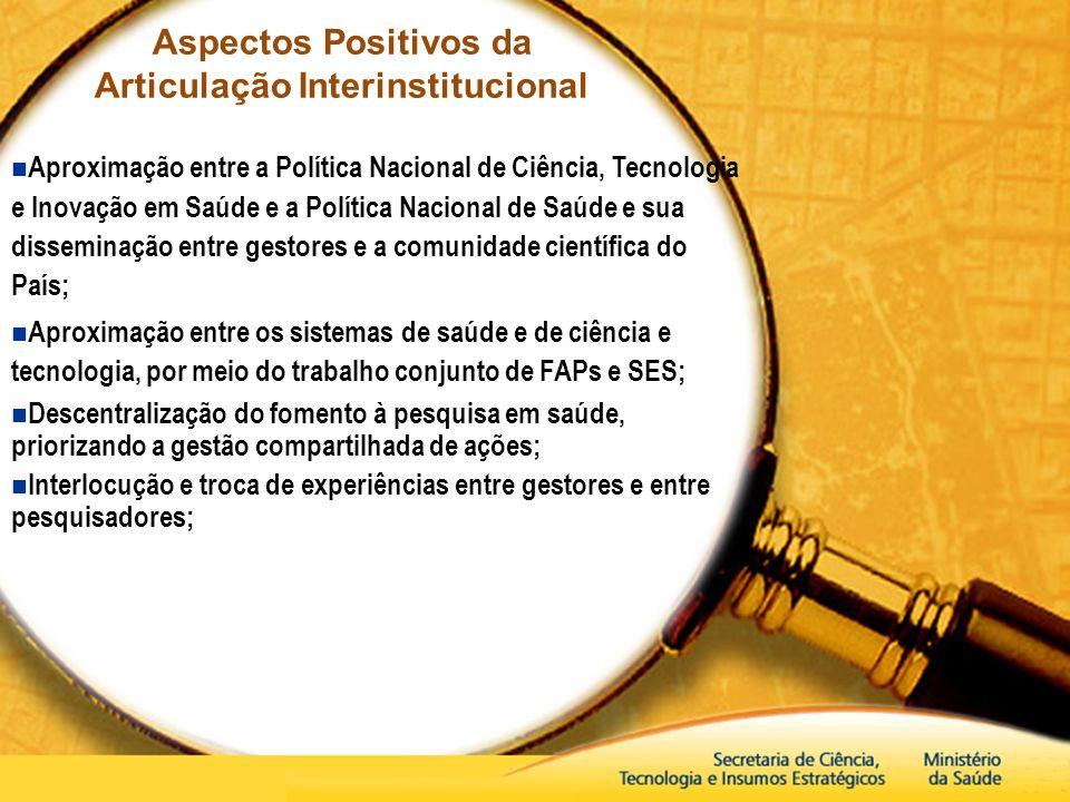 Aspectos Positivos da Articulação Interinstitucional