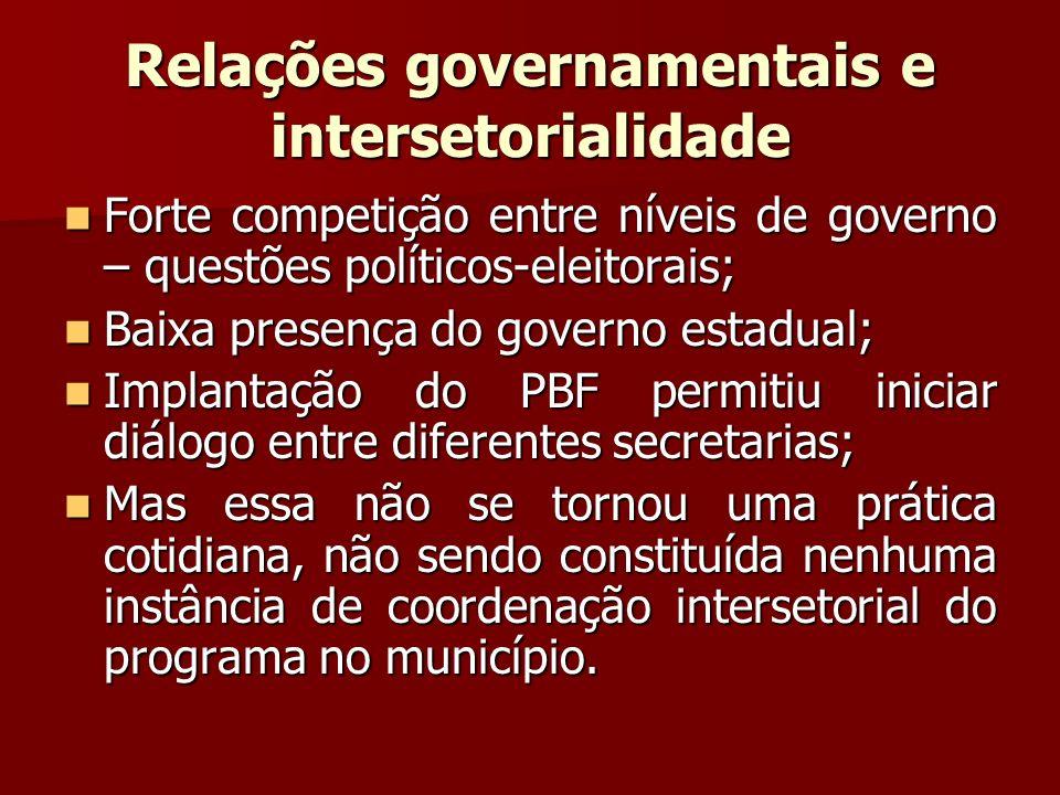Relações governamentais e intersetorialidade