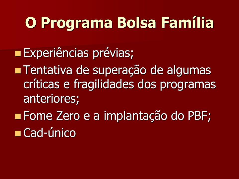 O Programa Bolsa Família