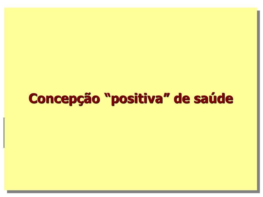 Concepção positiva de saúde
