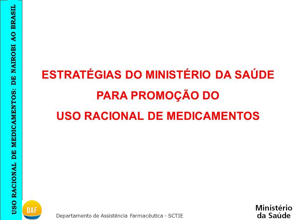 ESTRATÉGIAS DO MINISTÉRIO DA SAÚDE USO RACIONAL DE MEDICAMENTOS