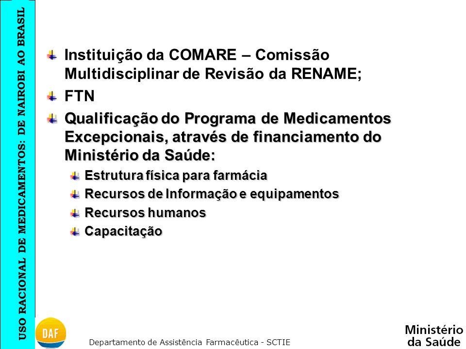 Instituição da COMARE – Comissão Multidisciplinar de Revisão da RENAME;