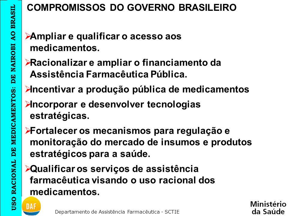 COMPROMISSOS DO GOVERNO BRASILEIRO