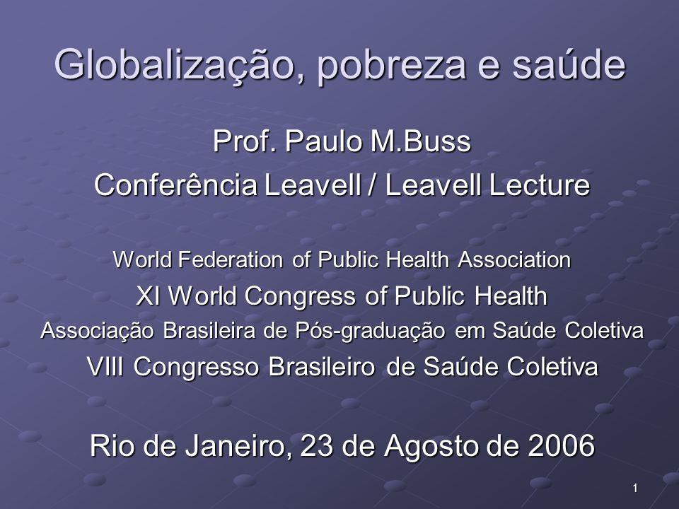 Globalização, pobreza e saúde
