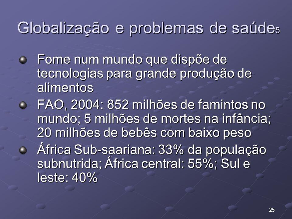 Globalização e problemas de saúde5