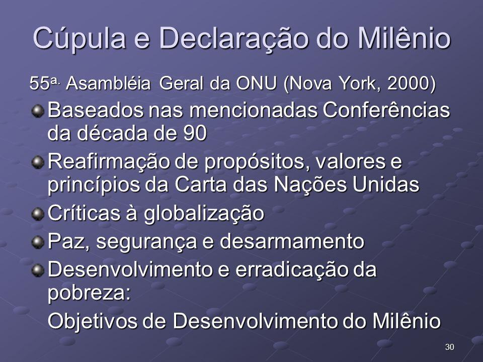 Cúpula e Declaração do Milênio