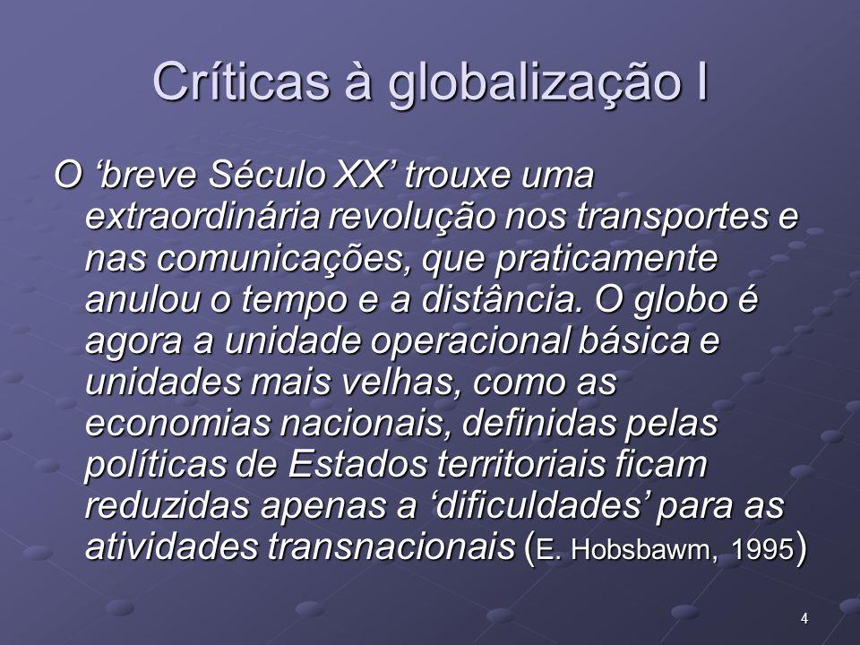 Críticas à globalização I