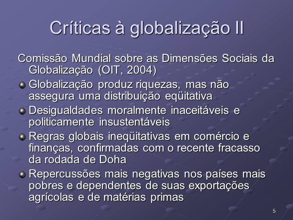 Críticas à globalização II