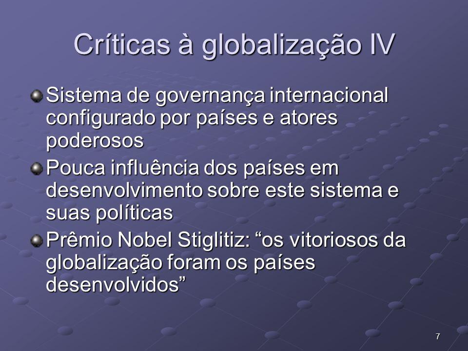 Críticas à globalização IV