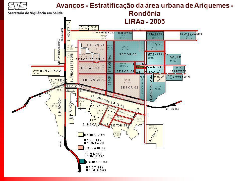 Avanços - Estratificação da área urbana de Ariquemes - Rondônia