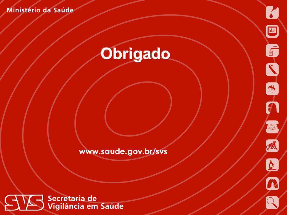 Obrigado www.saude.gov.br/svs Jarbas Barbosa da Silva Júnior